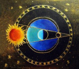 Birth chart paiting lunar eclipse