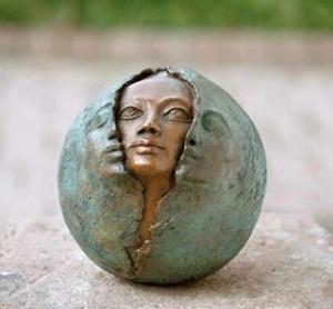 rosto em escultura blissnow