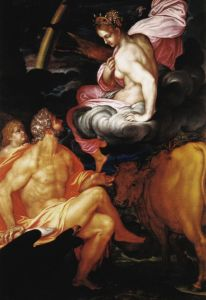 Io with Zeus, by Giovanni Ambrogio Figino.