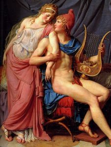 Jacques Louis David 1748-1825 The Courtship of Paris and Helen Oil on canvas