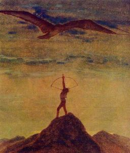 Sagittariu in the twelve-paiting cycle Zodiakas Zodiac oswalda grigas
