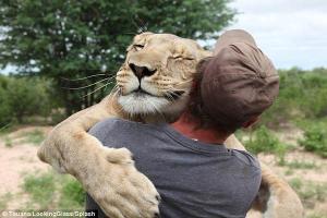 leoa e humano